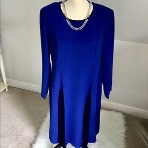 💙💎Cobalt Blue Dress With Velvet Size 14